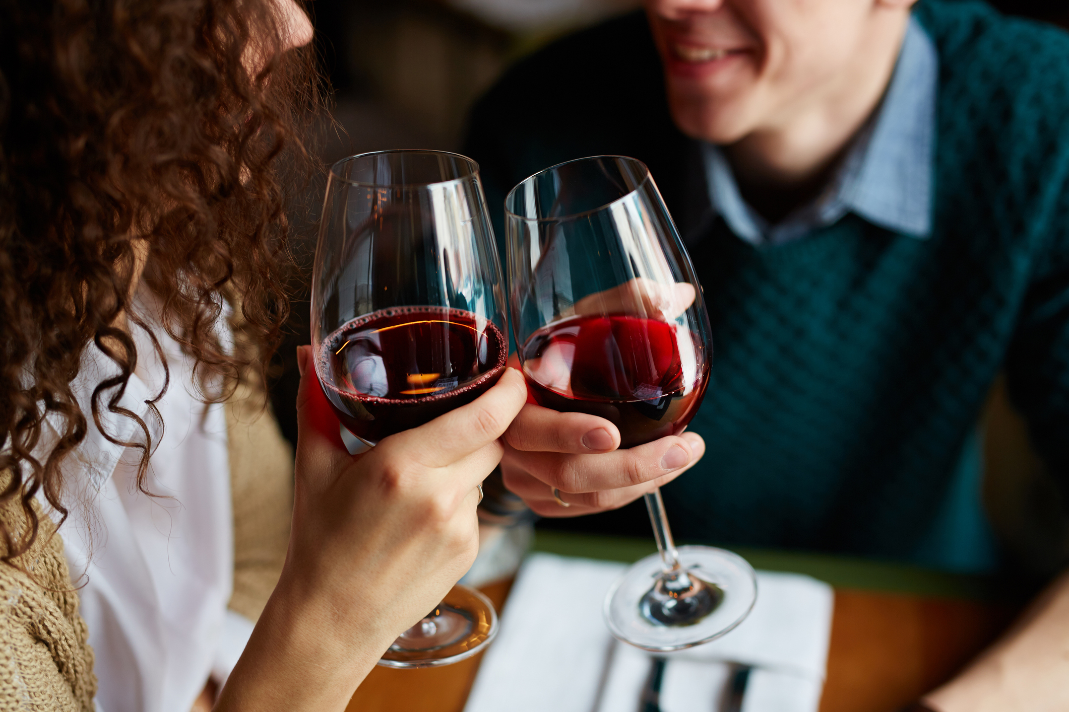 Couple Enjoying Red Wine From Leavenworth Wineries