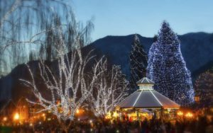 Christmas lighting in Leavenworth--Activities at the Gazebo