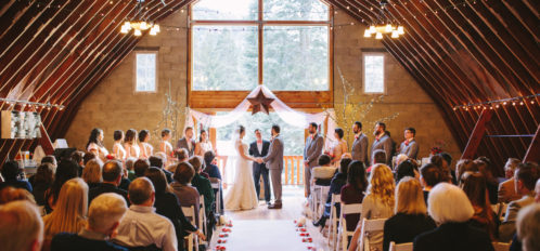 Pine River Ranch Indoor Winter Wedding
