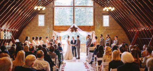 Pine River Ranch Indoor Winter Wedding