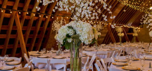 Pine River Ranch Wedding Reception Setting
