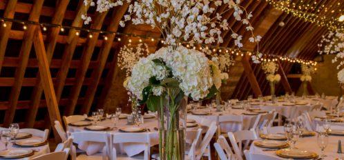 Pine River Ranch Wedding Reception Setting