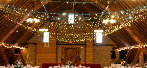 Pine River Ranch Wedding Reception in Barn
