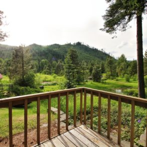 View from deck in Ledgepole Suite at Pine River Ranch