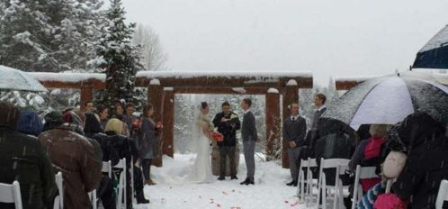 Washington Outdoor Winter Wedding