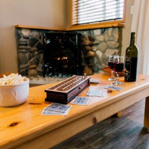 Ponderosa Suite Coffee Table and Fireplace