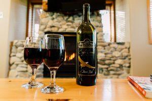 Wine in Lodgepole Suite