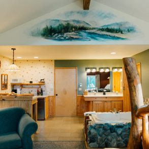 Mural in the Nason Suite at Pine River Ranch