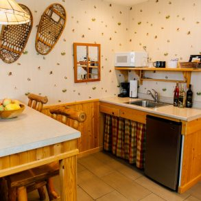 Kitchenette in the Nason Suite at Pine River Ranch