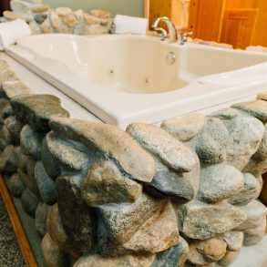 Tub details in Natapoc Suite at Pine River Ranch
