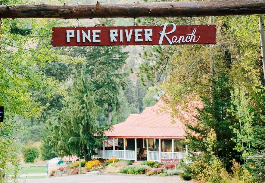 Pine River Ranch Entrance Sign