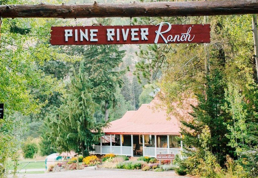 Pine River Ranch Entrance Sign