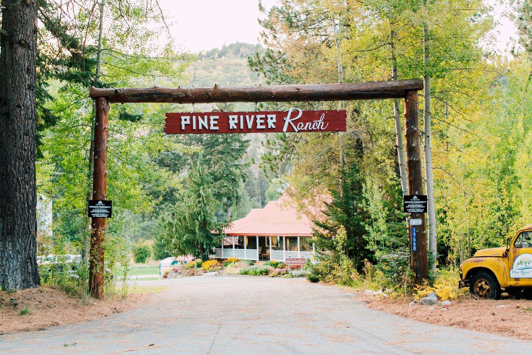 Pine River Ranch Main Entrance