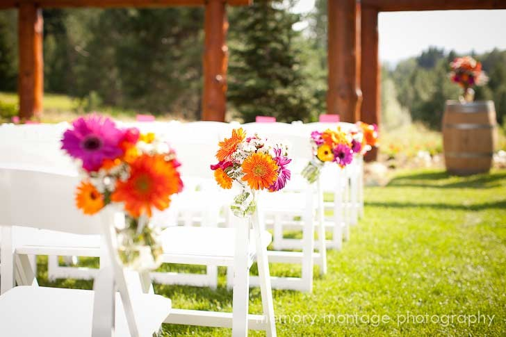 Wedding Aisle at Pine River Ranch, the Best Wedding Venue in Leavenworth