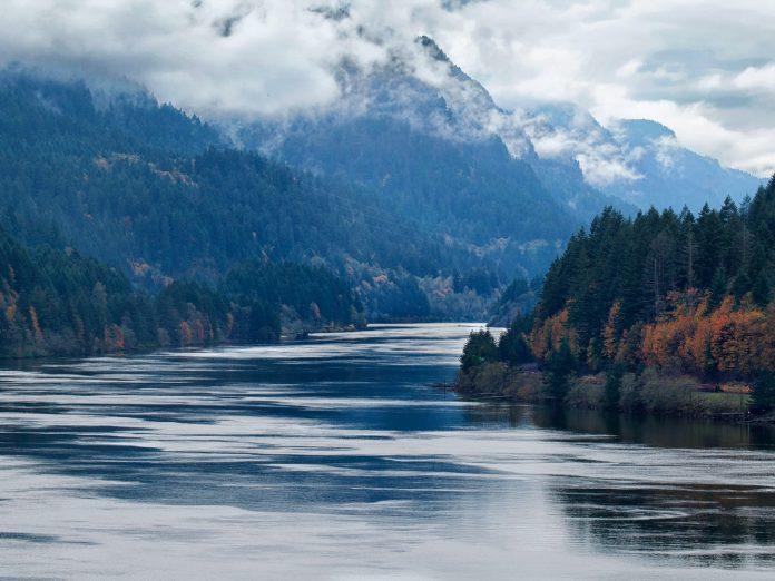 River winding through scenic Washington