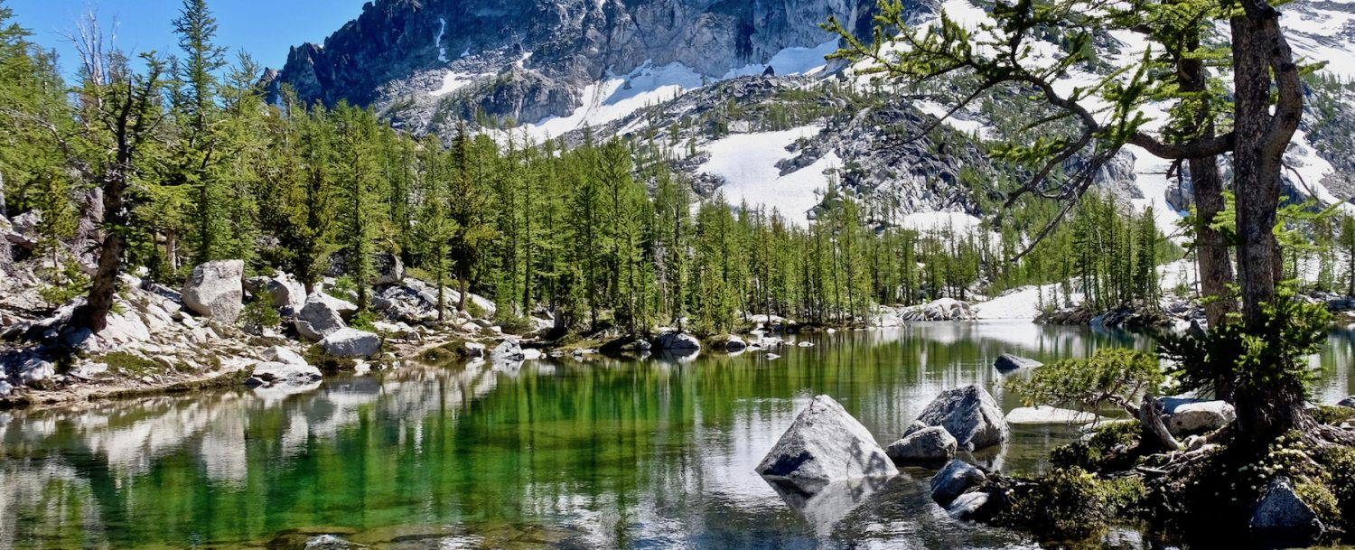 Leprechaun lake. The Enchantments. Cascade Mountains. Seattle. Leavenworth. WA. United States.