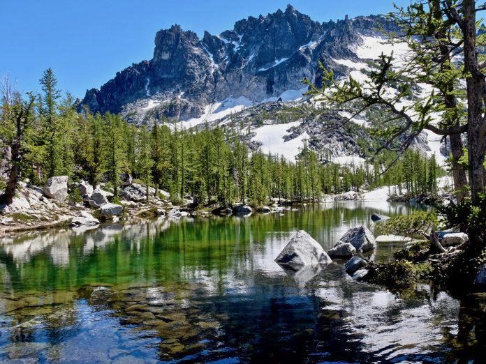Leprechaun lake. The Enchantments. Cascade Mountains. Seattle. Leavenworth. WA. United States.