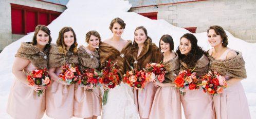 Bridal Party at Pine River Ranch