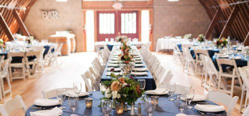 Wedding Reception Setup at Pine River Ranch